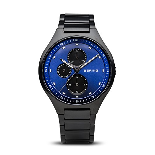 BERING Time 11741-727 Mens Titanium Collection Watch with Titanium Band and Scratch Resistant Sapphire Crystal. Designed in Denmark.