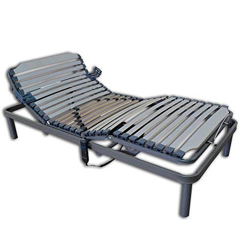 Duermete Online Cama Articulada Electrica 5 Planos Bastidor Reforzado y Taco de Caucho, Haya, 90 x 190