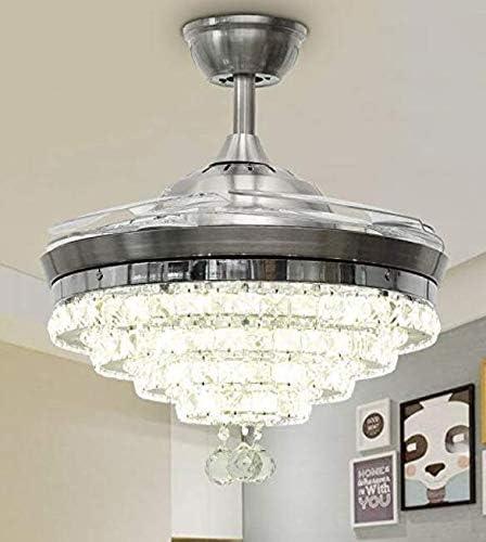 Sweety House 42″Luxury Crystal Ceiling Fan Chandelier