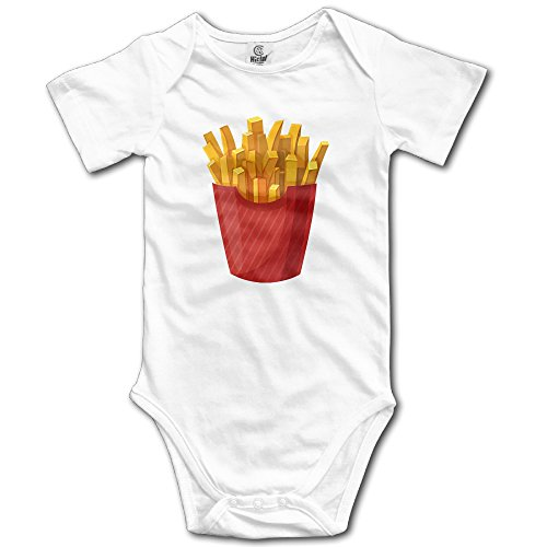 [Duola Infants Boy's & Girl's French Fries Short Sleeve Jumpsuit Outfits For 6-24 Months White 6 M] (Magic Mike Baby Costume)