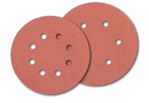 UPC 885911089289, PORTER-CABLE 735800400 5-Inch Hook and Loop Aluminum Oxide 8 Hole 40G Disc (100-Pack)