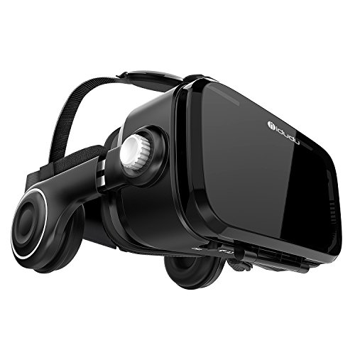 iDudu VR - Virtual Reality Headset with Stereo Headphone for iPhone & Android Smartphones