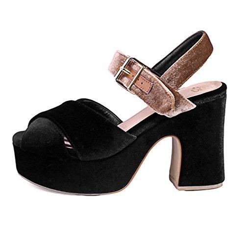 Pour Vache Talon Cuir Chaussures En Boucle Femmes Lété Enmayer Bloc OS8wnxUqB