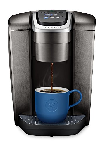 Popular Large Mugs (Keurig K-Elite K Single Serve K-Cup Pod Maker, with Strong Temperature Control, Iced Coffee Capability, 12oz Brew Size, Brushed Slate)