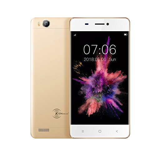 KEN XIN DA V6 Dual SIM Unlocked Smartphone 4.5 Inches Display Android 7.0 8G+1G Memory GSM 3G Cell Phones (Gold) … by KEN XIN DA (Image #2)
