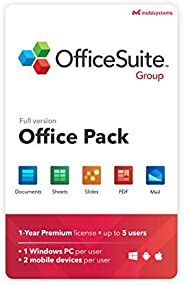 OfficeSuite Group Compatible with Microsoft® Office Word® Excel® & PowerPoint® and Adobe® PDF for PC Windo