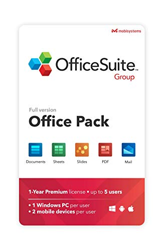 OfficeSuite Group Compatible with Microsoft® Office Word® Excel® & PowerPoint® and Adobe® PDF for PC Windows 10, 8.1, 8…