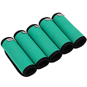 Gowraps Neoprene Luggage Handle Wraps For Traveling Bright Color Luggage Tags|Handle Wraps|Handle Covers (Turquoise)