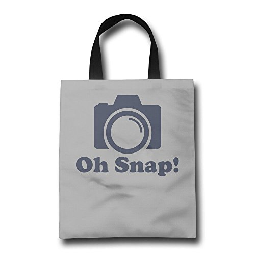 Photographer Camera Oh Snap Reusable Shopping Bag, For Farmers Markets, Grocery Shopping, Crafts, Travel, Sewing & Everyday - Chicago Near Shopping