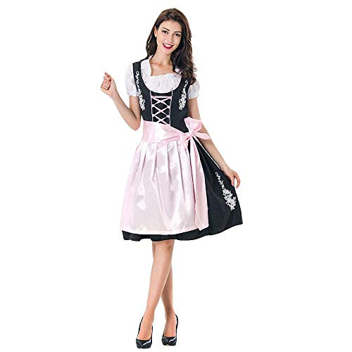 Slimate Women's German Dirndl Dress Costumes Bavarian Oktoberfest
