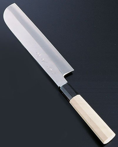 Three silver mirror finish sickle type thin blade 21 cm Nakiri Cooking Knige by Endo Corporation