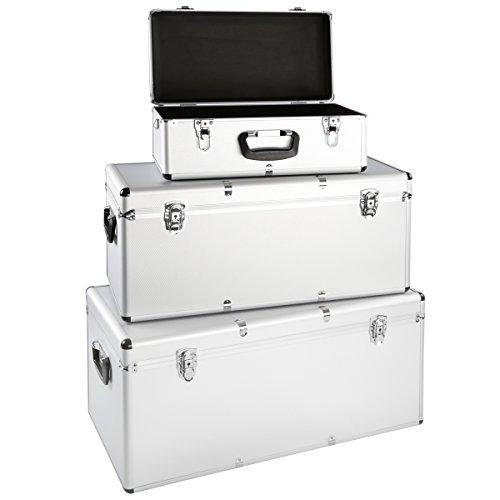 3er Set Alu Boxen Alukiste Werkzeugkiste Transportbox Lagerbox Lagerkiste Abschließbar