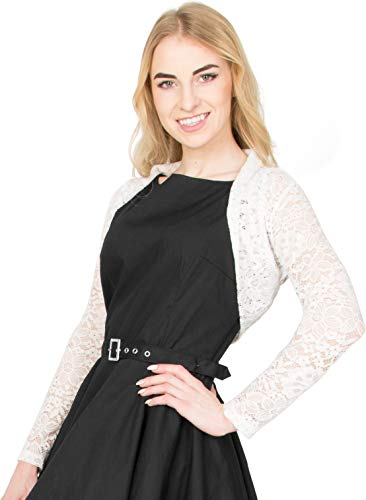 [해외]블랙 버터 플라이 플로 럴 레이스 롱 슬리브 오픈 볼레로 이브닝 재킷 블라우스 / BlackButterfly Floral Lace Long Sleeve Open Bolero Evening Jacket Blouse