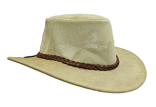 - Summer Cowboy Hat | Ventilating Mesh Hat Bendigo- Made in Australia Tan