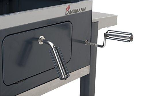 Landmann Holzkohlegrillwagen Dorado : Landmann holzkohle grillwagen dorado grau cm