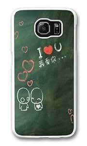Blackboard love Custom Samsung Galaxy S6/Samsung S6 Case Cover Polycarbonate White