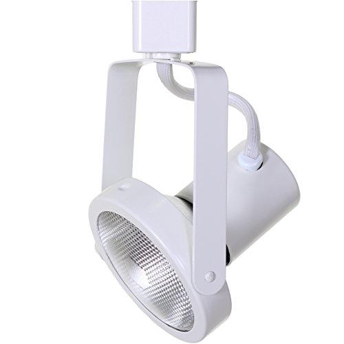White Gimbal Track Head - Direct-Lighting 50005 White PAR30 Gimbal Ring Line Voltage Track Lighting Head