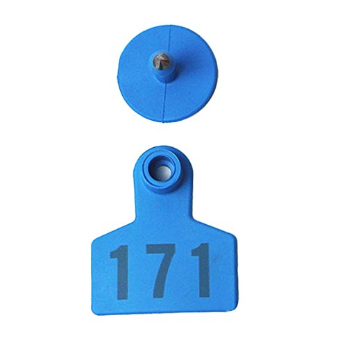 001-1000 Ear Tags Animal Identification Tags Livestock Cattle Sheep Pig Ear Mark (Blue) by General (Image #5)