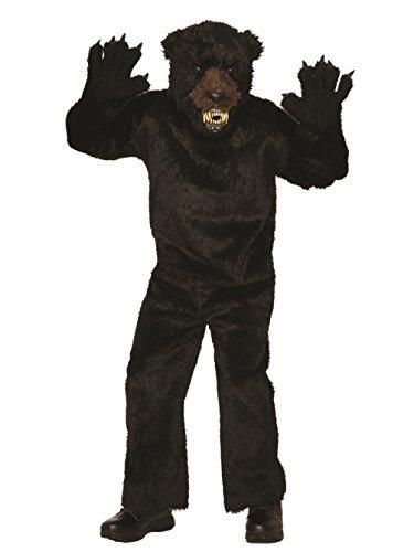 Forum Men's Deluxe Scary Bear Costume, Black, -