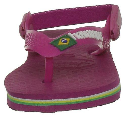 Havaianas Zehentrenner Baby Brasil Logo Rose Fluo