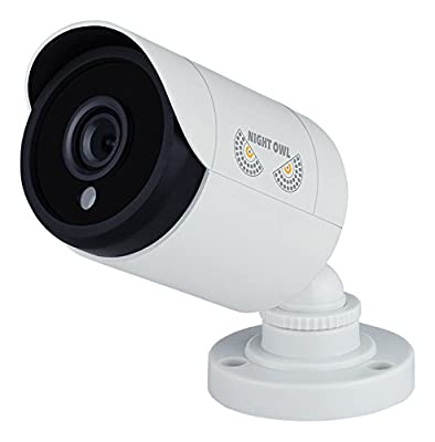 Night Owl CAM-HDA10W-BU 1 Pack Add–On 1080p HD Wired Security Bullet Camera (White) by Night Owl