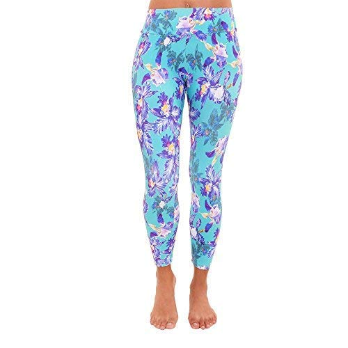 be68e52bfe0d5 Image Unavailable. Image not available for. Color: Liquido Active Women's  Patterned Yoga Legging Young Crush Small