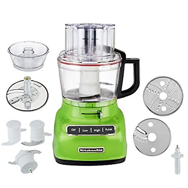 KitchenAid KFP0930GA 9-Cup Food Processor with Exact Slice System and French Fry Disc - Green Apple