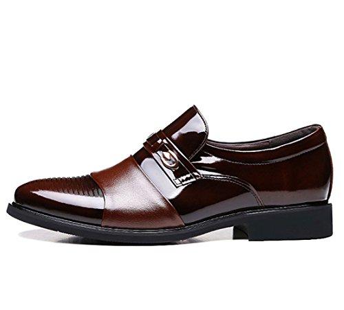en en pour Cuir Chaussures Brown Chaussures Dress Business LEDLFIE Cuir Summer Hommes Cg5zCxa