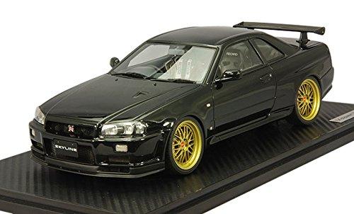 1/18 Nissan Skyline GT-R V-spec II R34 (ブラック) IG0185