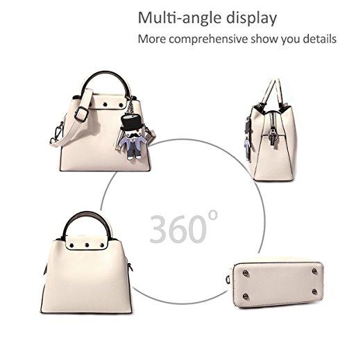 NICOLE 2018 design crema donna donna borsette borse e con da Borsa Cielo amp;DORIS ricercato Blu tracolla nuove dal tracolla da a Bianco rq5arF