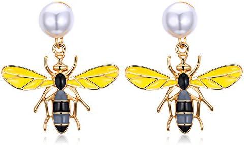 ジュエリー ブランド 人気 ピアス レディース シンプル ゴールド 動物 ミツバチ パール