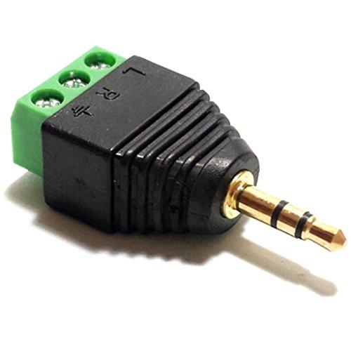 CESS 3.5mm Stereo Balanced Male Plug/Female Jack to AV Screw Video Balun Terminal (jcx) (LW) (10 Pack)