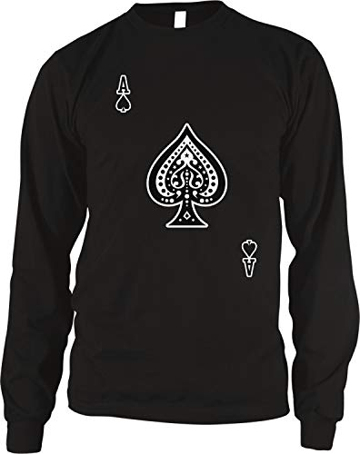 Amdesco Men's Ace of Spades Thermal Shirt, Black XL (Spade Black Thermal)