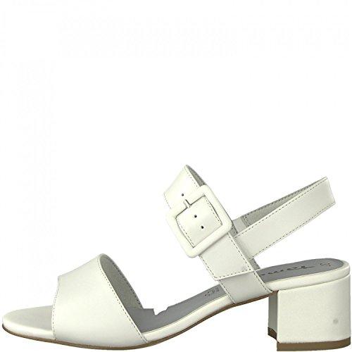 Tamaris 1-28017-20 Sandalias Para Mujer Weiß