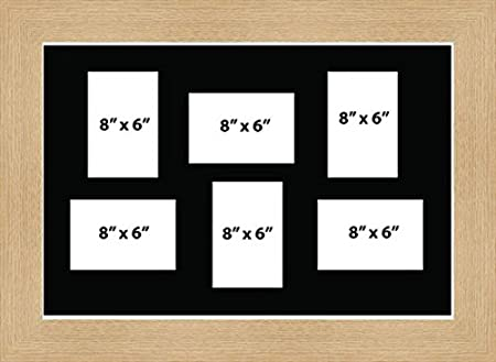 Kwik Picture Framing | MULTI APERTURE PHOTO FRAME FITS 6 8x6 PHOTOS ...