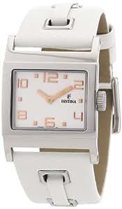 Festina F16475/4 - Reloj analógico de cuarzo para mujer con correa de piel, color blanco