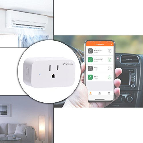 Mini Wifi Smart Plug 4 Pack - Voice Control Through Alexa and Google Assistant,Control Your Home Device from Anywhere,Supports Timing Switch,DIY Scenes,Device Sharing. by Anmaker (Image #3)