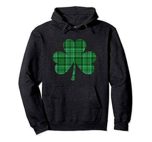 Green Flannel Buffalo Plaid Shamrock St Patricks Day Hoodie ()