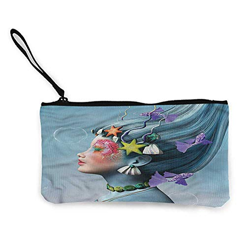 (Cash Bag 1950s Mermaid,Woman Oceanic Hairstyle W8.5