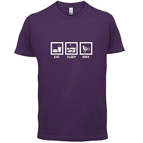 Eat Sleep BMX - Herren T-Shirt - Lila - M