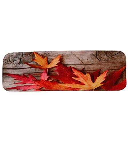 ZENGAI 3D Carpet Stair Treads Runner Rug Pad Silica Gel Anti-Skid Particles Bottom Three-Dimensional Maple Leaf Step Mat Rectangle (Color : 5 Pieces, Size : 70X22cm)