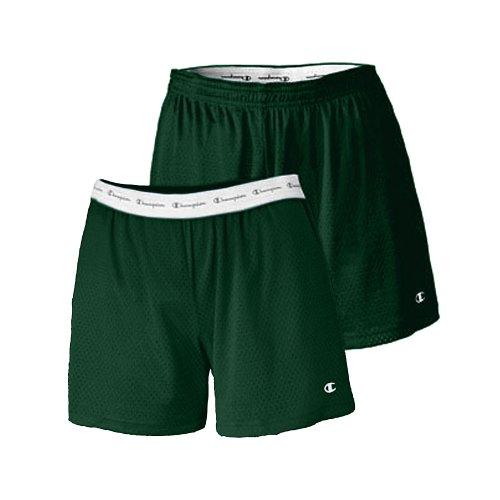 Champion Women's Active 5' Mesh Short_Athletic Dark Green_XL (Champion Green Mesh Shorts)