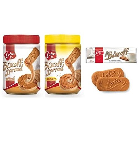 Amazon.com: Biscoff Cookies & Butter Spreads (Creamy + Crunchy Spreads + 32ct. Cookies Combo Pack Trio)