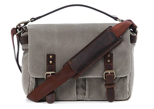 ONA - The Prince Street - Camera Messenger Bag - Smoke Waxed Canvas (ONA5-024GR) by Ona