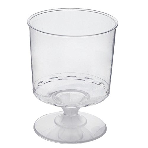 BalsaCircle 48 pcs 6 oz Clear Plastic Wine Glasses - Disposable Wedding Party Catering Tableware