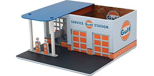 Greenlight 1:64 Mechanic's Corner Series 1 Vintage Gas Station Gulf Oil