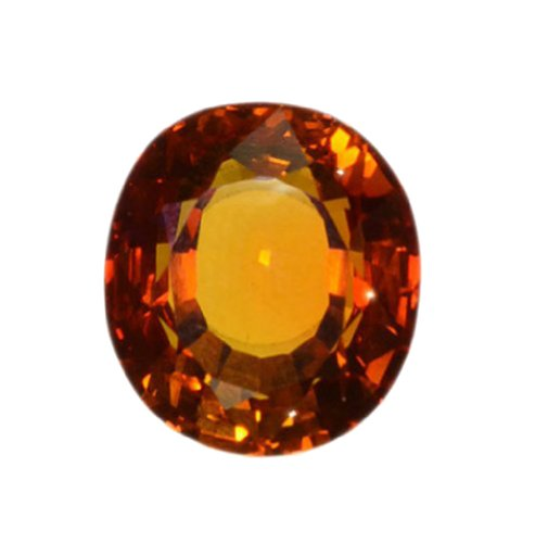 Synthetic Padparadscha Sapphire Yellow Golden Orange Oval Loose ~18mm X 16mm