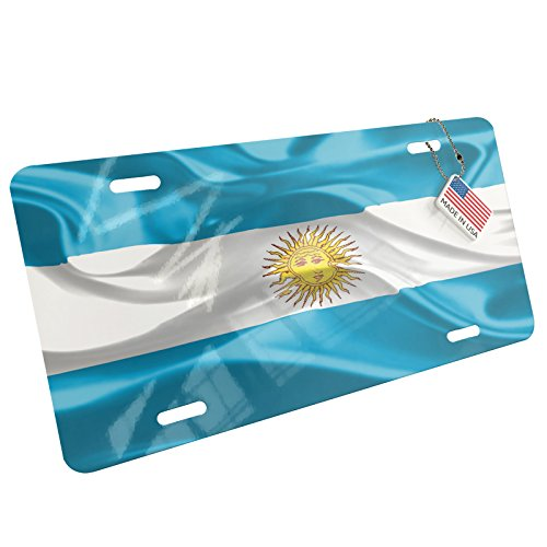 Argentina Flag License Plate - NEONBLOND Metal License Plate Argentina 3D Flag