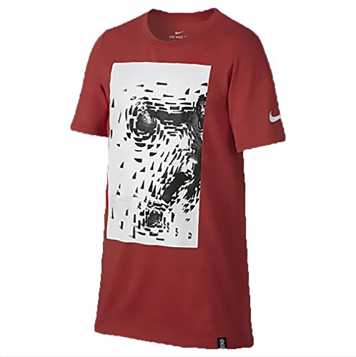 NIKE Boys Kyrie Collage Graphic T-Shirt (Large, Track Red/White)