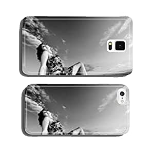 Young woman in straw field with bales. cell phone cover case iPhone5